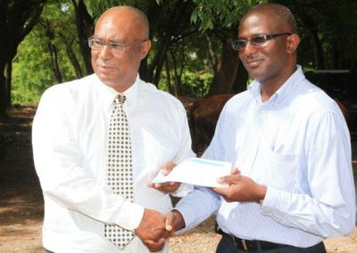 Cheque handing over - Bath Plains